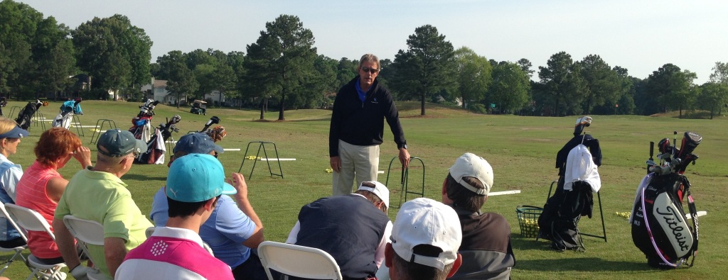 Mark Houston teaching golf clinic